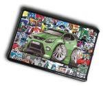 KOOLART STICKER BOMB STYLE Design For Green For Focus RS Case Cover For iPad Mini 1 2 3